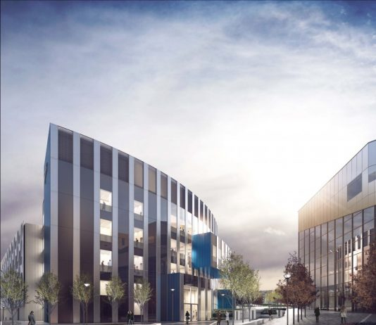 CGI from Sheppard Robson Newcastle Teaching & Learning Centre Oystershell Lane