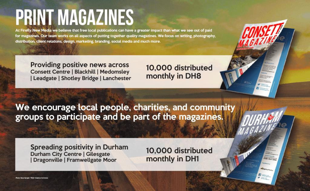 North East England Print Magazine Advertising
