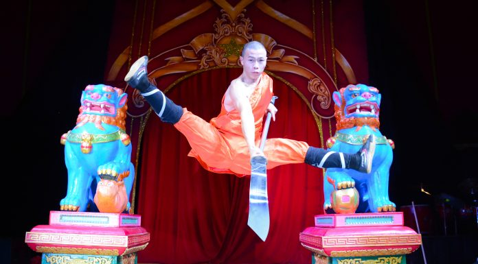 Shaolin Warrior in the Air - Chinese State Circus Coming to Newcastle