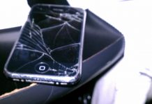 damaged iPhone