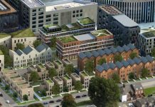 Artist's impression of housing at Helix