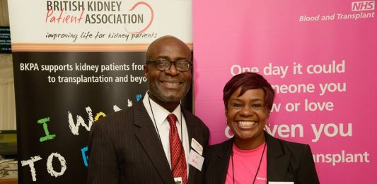 The Gold founder Dela Idowu (right) with the host of event Tayo Idowu, himself a dialysis patient.