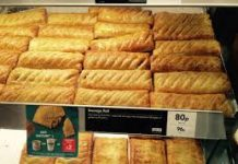 Gregg's Bakery Sausage Rolls