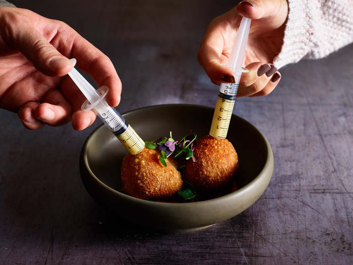 Cheese Doughballs at The Alchemist, Newcastle upon Tyne