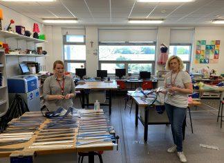 (l-r)Sarah Malone, Music teacher and Helen Cobain, Design and Technology teacher