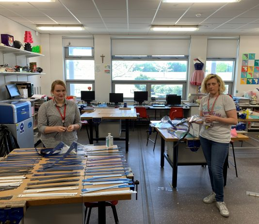 (l-r)Sarah Malone, Music teacher and Helen Cobain, Design and Technology teacher
