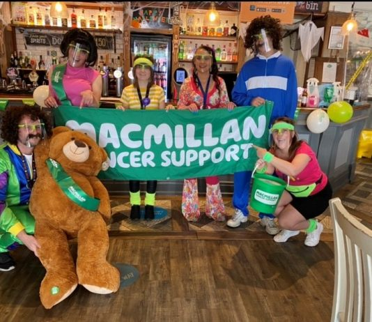 £1.6K Raised At Duke Of Wellington For Macmillan Cancer Support