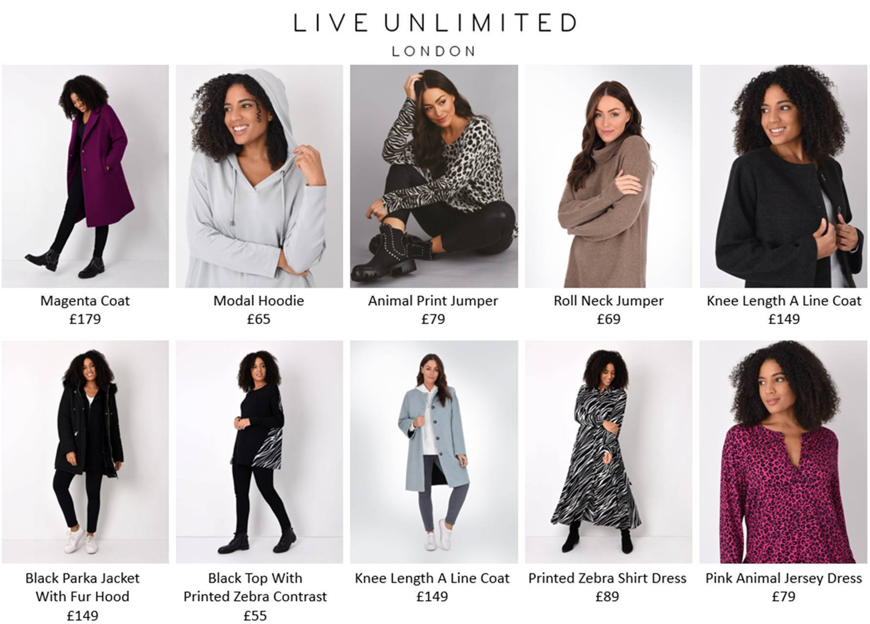 Live Unlimited London - Premium Clothing That Celebrates Women's Curves